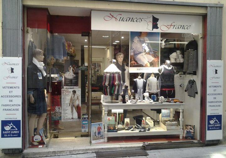 Vitrine de la boutique Nuances France