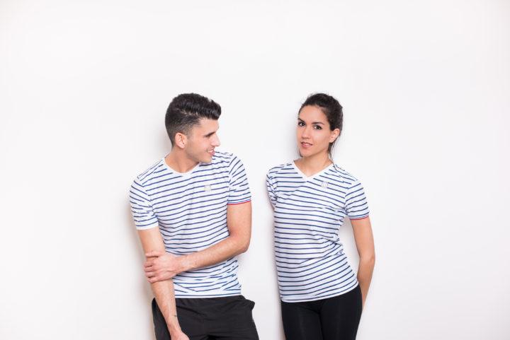 t-shirt marinière made in france Coureur Du Dimanche